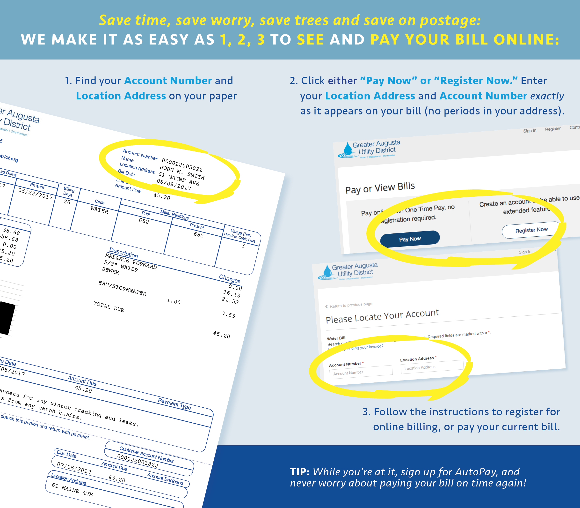 how to pay your bill greater augusta utility district
